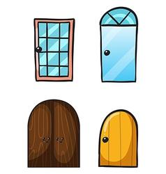 Cartoon doors vector image