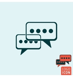 Chat icon isolated vector
