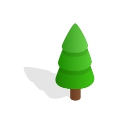 Fir tree icon isometric 3d style vector image vector image