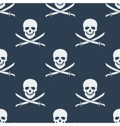 Seamless pattern with jolly roger vector image vector image