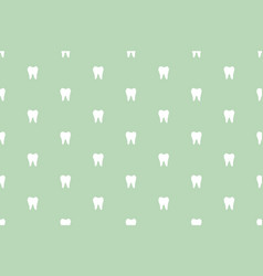 Tooth seamless pattern - simple white teeth vector