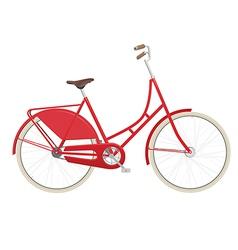 Vintage ladies bicycle vector image