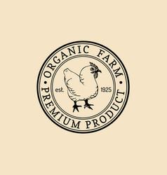 retro farm fresh logotype organic premium vector image