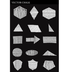 Set of Chalk Shapes Grunge Design Elements vector image
