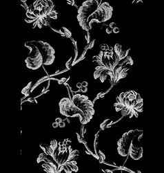 9 Abstract hand-drawn floral seamless pattern vector image vector image