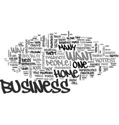 best home based business text word cloud concept vector image vector image
