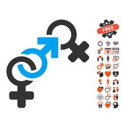 faith breach icon with dating bonus vector image