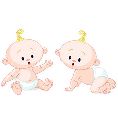 sweet twins vector image vector image