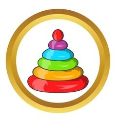 Toy pyramid icon vector