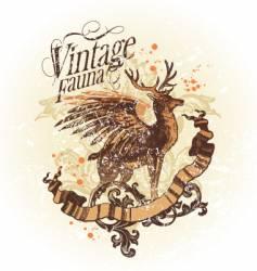 vintage fauna vector image