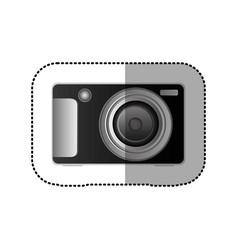 black technologic digital camera icon vector image vector image
