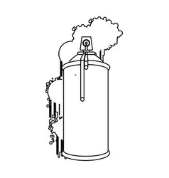 figure can aerosol sprays icon vector image