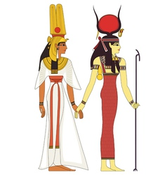 Isolated figure of ancient egypt god vector