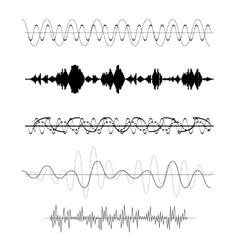 Set of Sound Wave vector image