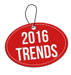 2016 trends label or price tag vector