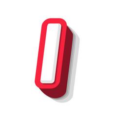 3d bold funny letter i heavy type for modern vector