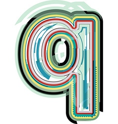 Abstract colorful Letter q vector image