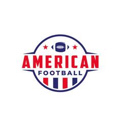 American football sport logo with gridiron ball vector