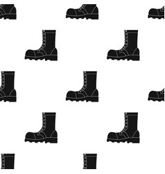 Army combat boots icon in black style isolated on vector