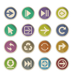 Arrow icon set vector
