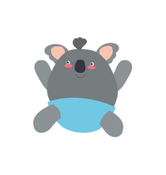 Baby koala stuffed animal vector