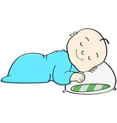 Baby sleeping vector