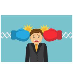 battered businessman loser vector image