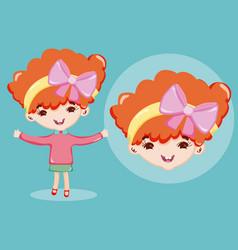 Beautiful girl cartoon vector
