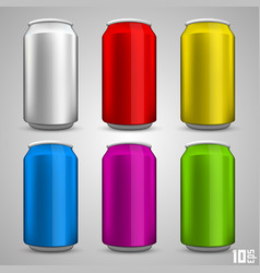 beer bottle set color vector image