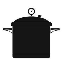 big cook saucepan icon simple style vector image
