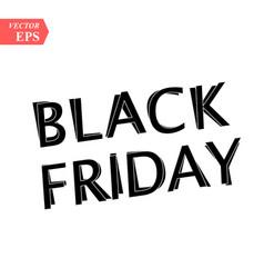 black friday sale on white background eps10 vector image