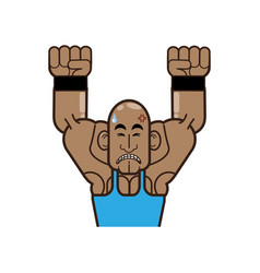 body building and gym cartoon vector image