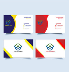 Business card print template free vector