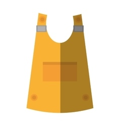 cartoon vest uniform worker protective shadow vector image