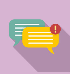 chat notification icon flat style vector image