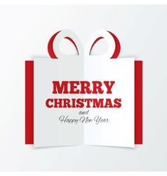 Christmas box cut paper cutout paper gift box vector