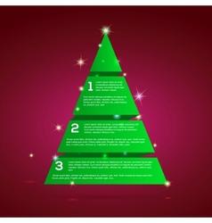 Christmas tree green tape infographics vector image