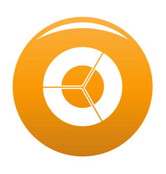 circle diagram icon orange vector image