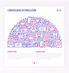 Conversion optimization concept in half circle vector