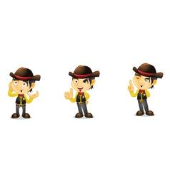 Cowboy 2 vector image
