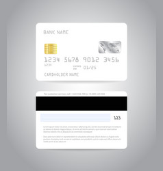 Credit card mock up vector