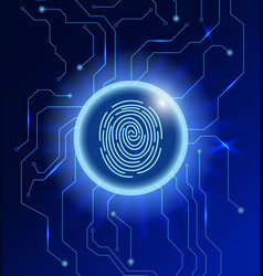 Cyber security concept abstract technology vector