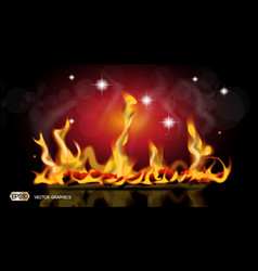 Digital abstract hot fire flames background vector
