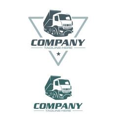 Dump truck logo vector