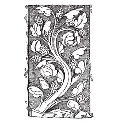 early gothic ornament vine was a design found in vector image
