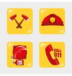firefighter tools vector image