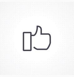 flat hand like icon vector image