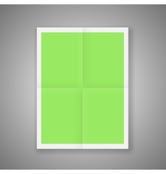 Folded Poster Template Mockup Ready For Your vector image