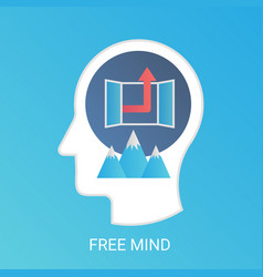 free mind concept modern gradient flat vector image