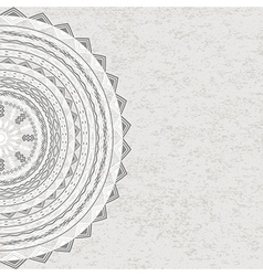 Grunge circle ornament with tribal motifs vector